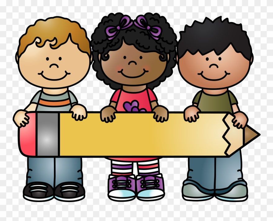 Pencils clipart student. Kids holding pencil whimsyclips
