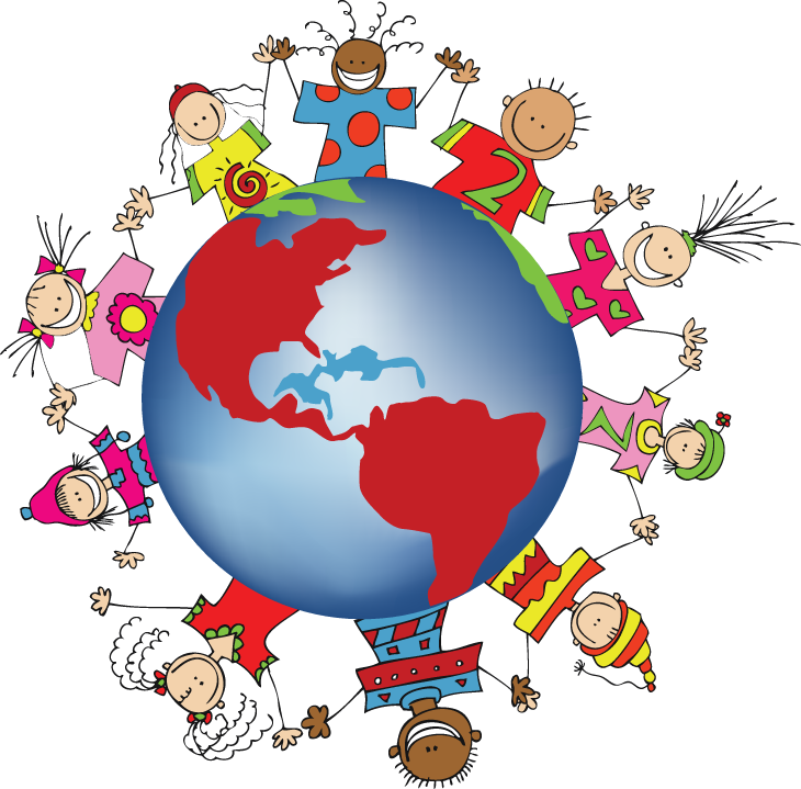 Geography clipart multicultural night. Children of the world