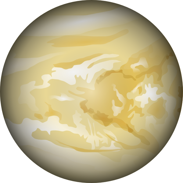 Planeten clipart animated globe. Cartoon venus planet google