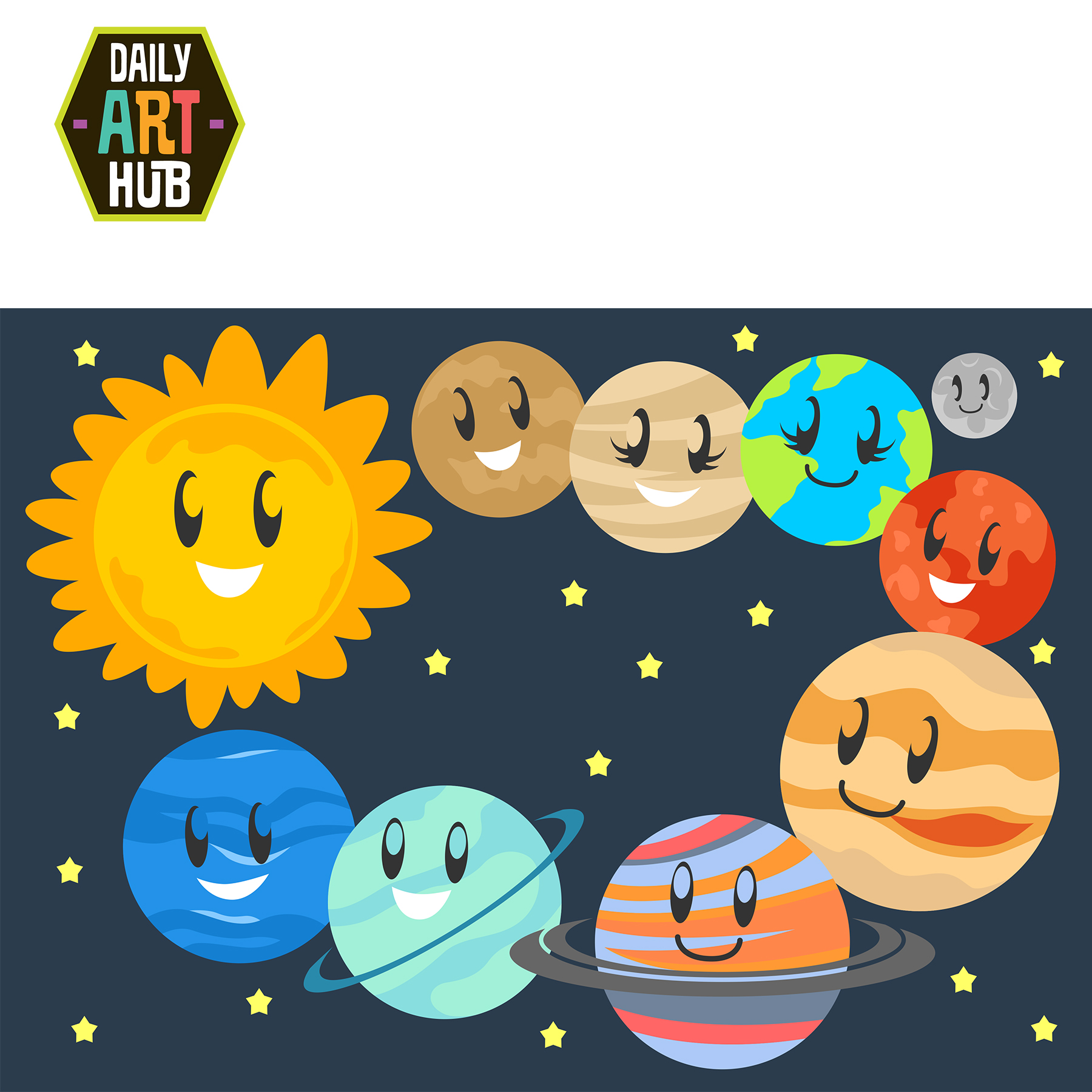 Planet clipart printable. Cute planets clip art