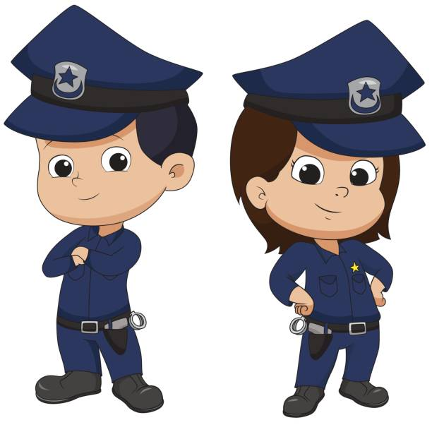 Clipart kids police. For kid pencil and
