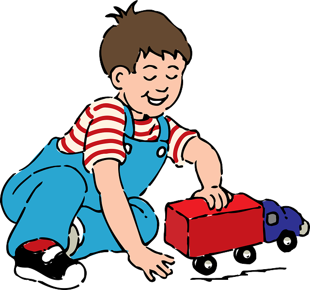 Your child with toys. Games clipart toy game