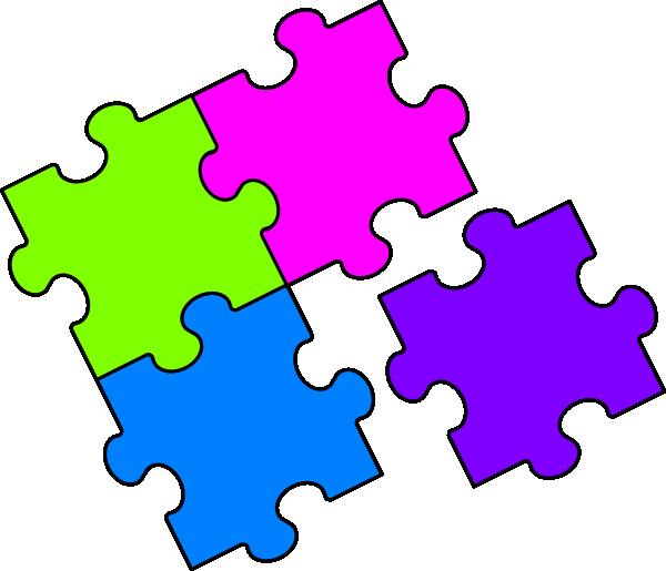 Blue clip art at. Clipart kids puzzle