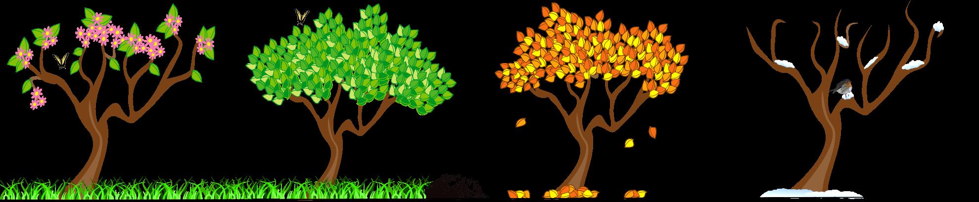 ideas tree art. Kids clipart seasons