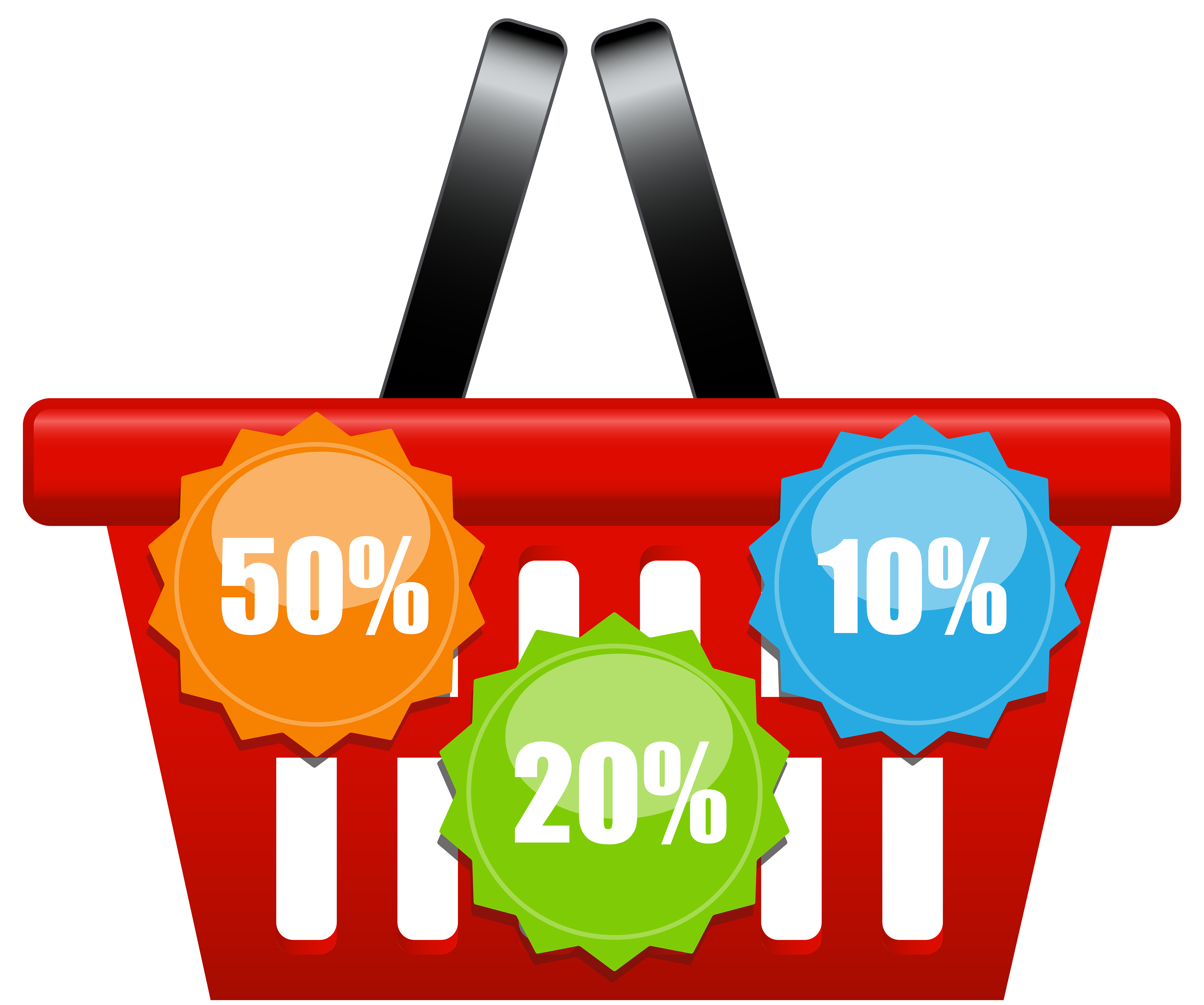 Water clipart basket. Shopping with discount icons