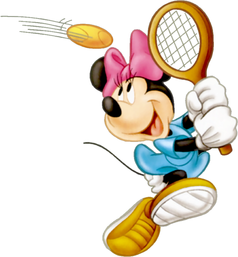 Kid clipart tennis. Minnie cartoon pinterest
