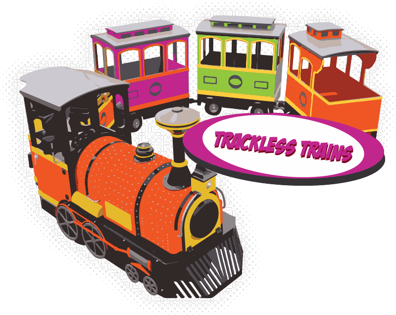 Kid clipart train. Electric trackless trains for