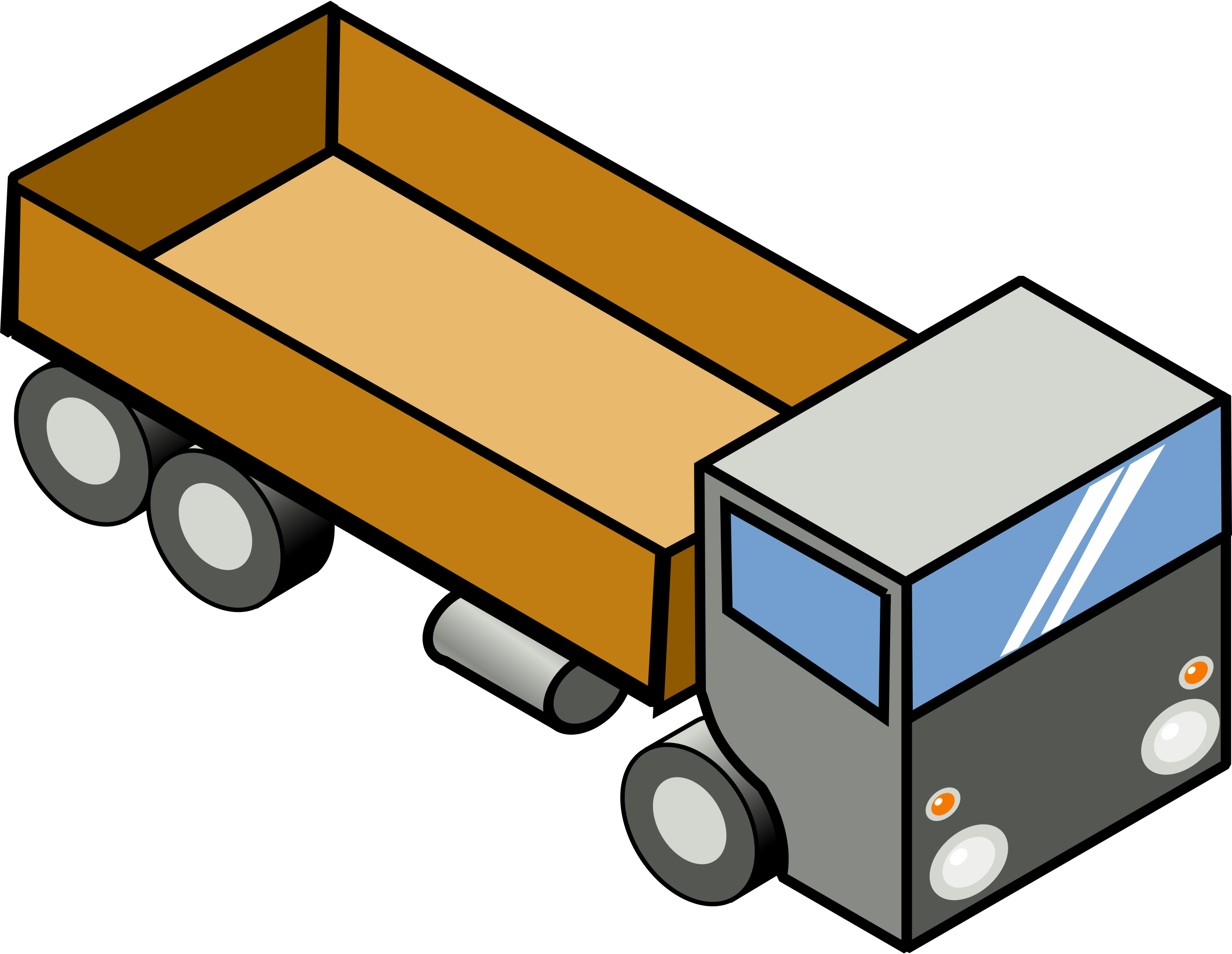 Driver clipart delivery driver. Semi truck at getdrawings
