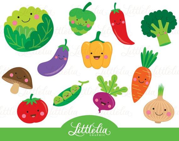 Vegetables clipart vegy. Cute vegetable veggie products