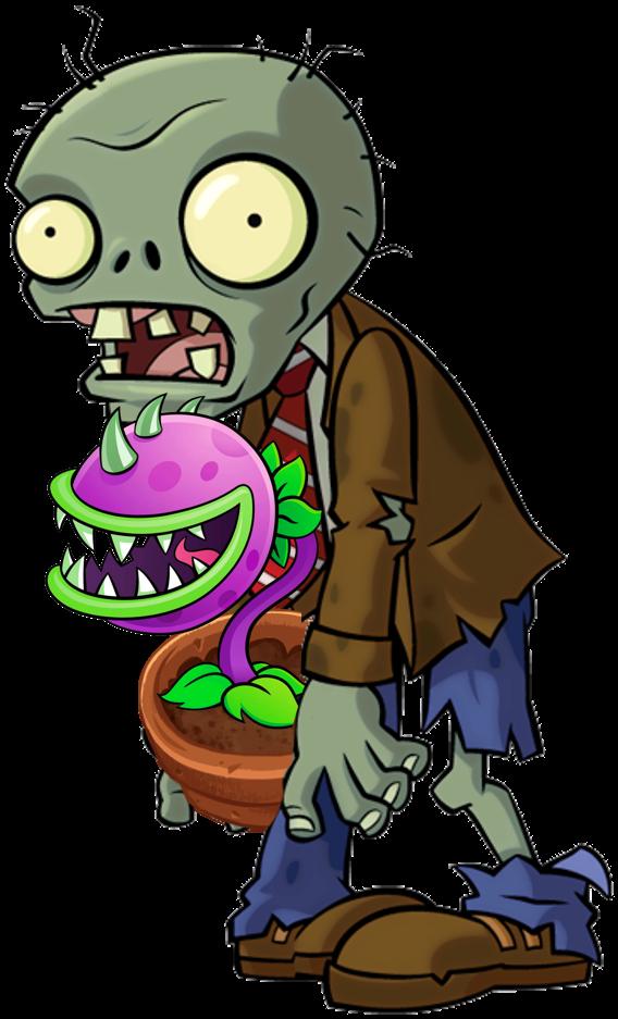 Plants clipart monster. Chomper zombie hfevra vs