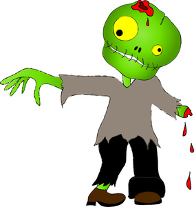 Zombie clipart kid friendly. Free clip art download