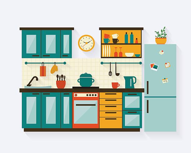 Images clip art room. Clipart kitchen