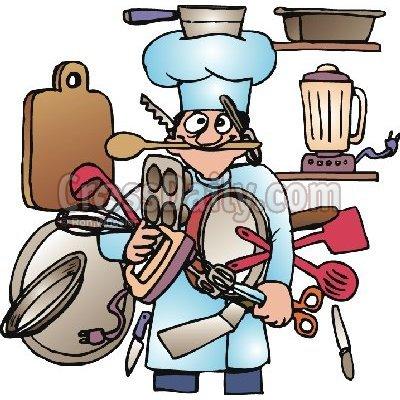Clipart kitchen. Cooking utensils panda free