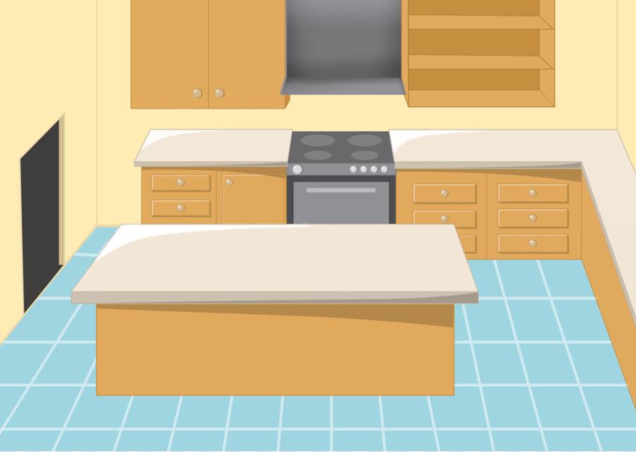 Countertop cupboard clip art. Clipart kitchen