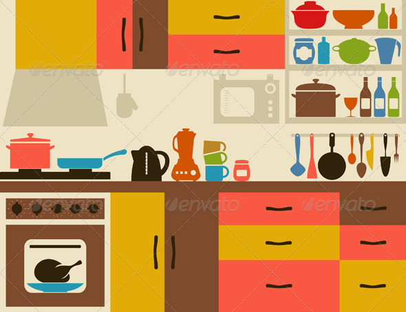 Room home design jobs. Clipart kitchen