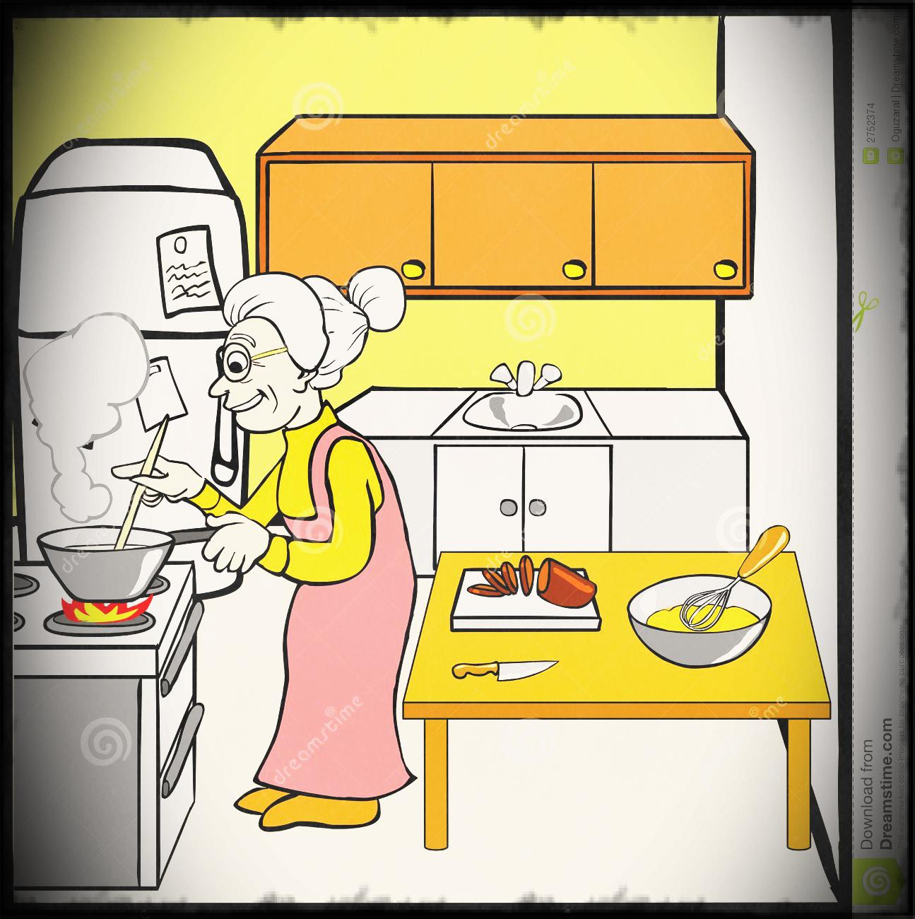 Clipart kitchen. Kids cleaning the clean