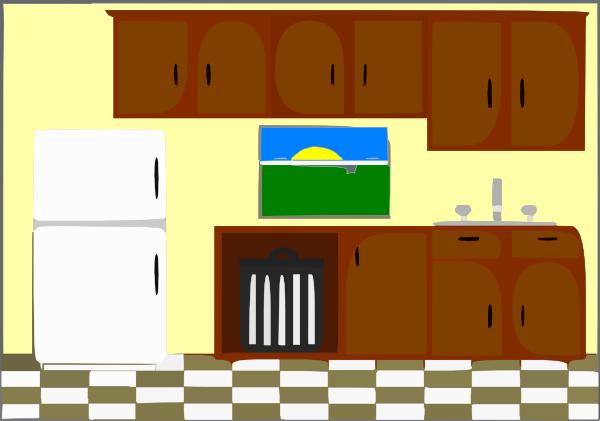Clipart kitchen. Background