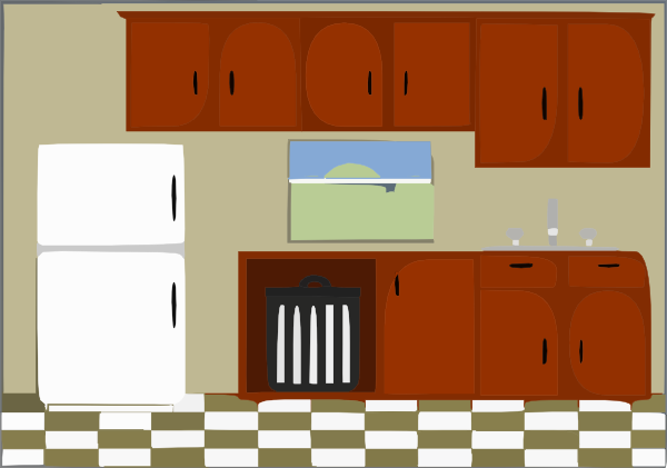 Clip art at clker. Clipart kitchen