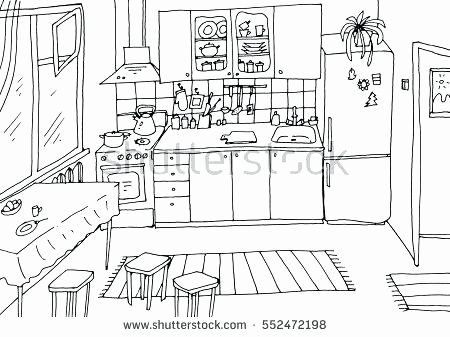 Kitchen clipart black and white. Cabinets inspirational