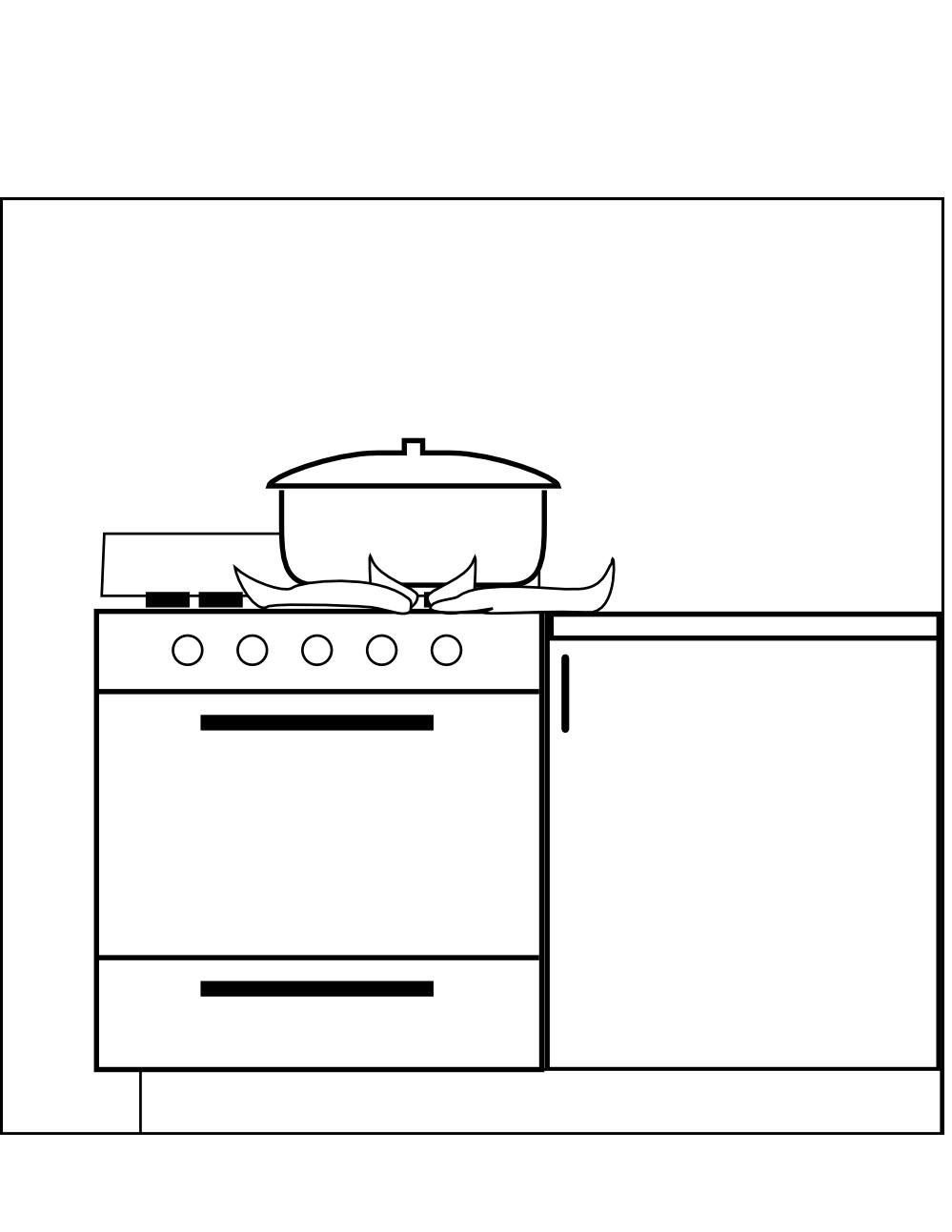 Clipartist net clip art. Clipart kitchen black and white