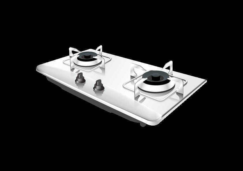 Gas stove portable clip. Clipart kitchen black and white