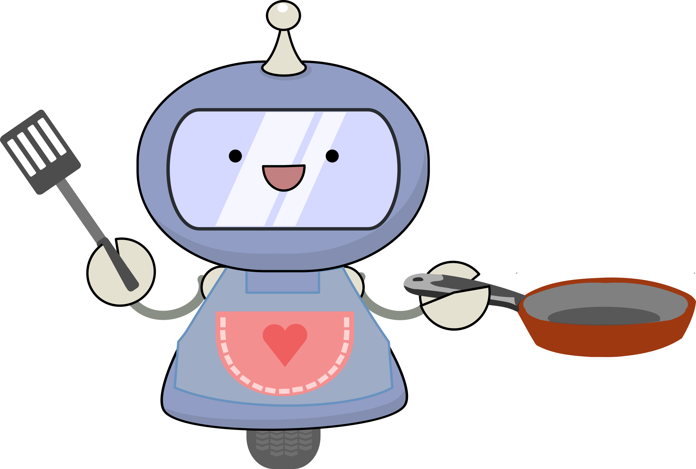 Breakfast making robot big. Make clipart cooking