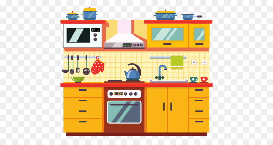 Png download free transparent. Clipart kitchen cartoon