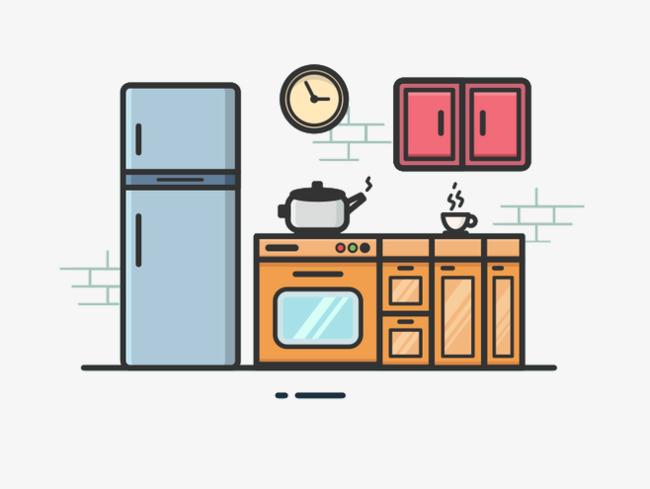 Clipart kitchen cartoon. Portal