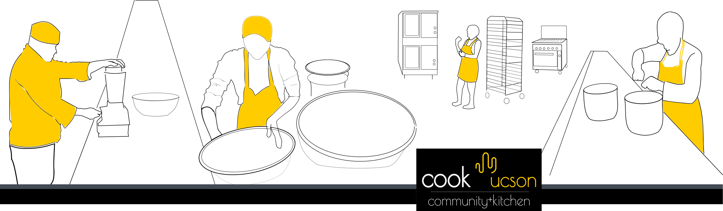 Kitchen clipart commercial kitchen. Cook tucson community culinary