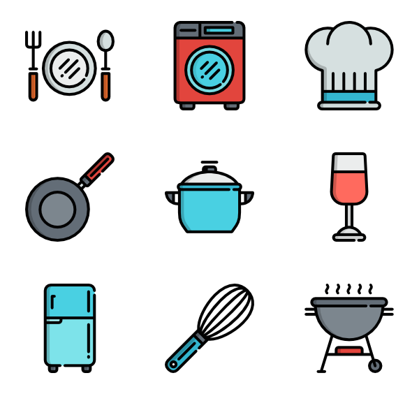 icon packs vector. Clipart kitchen crockery