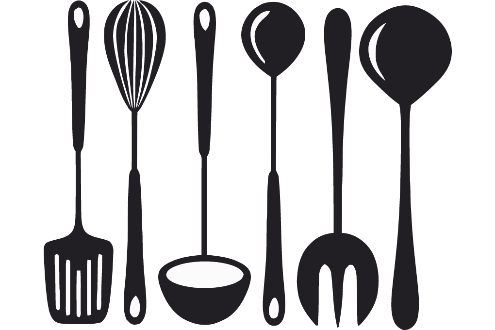Clipart kitchen crockery.  collection of cooking