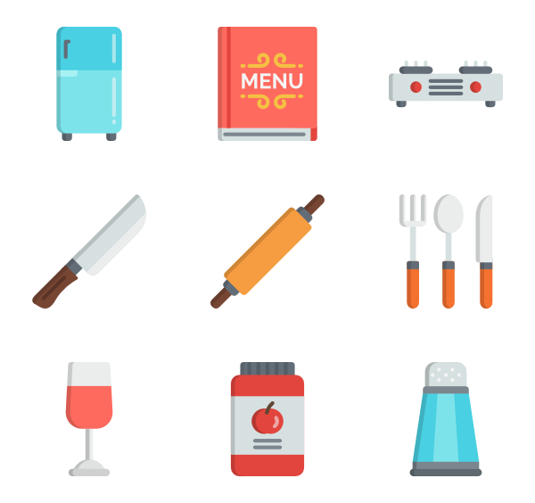 Clipart kitchen crockery.  icon packs vector