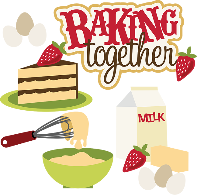 Clipart kitchen cut. Baking together svg collection