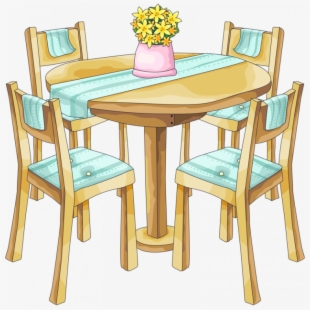 Kitchen clipart kitchen dining room. European style cloth table