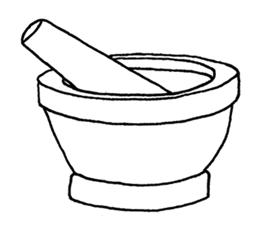 Yogurt clipart drawn. Mortar and pestle drawing