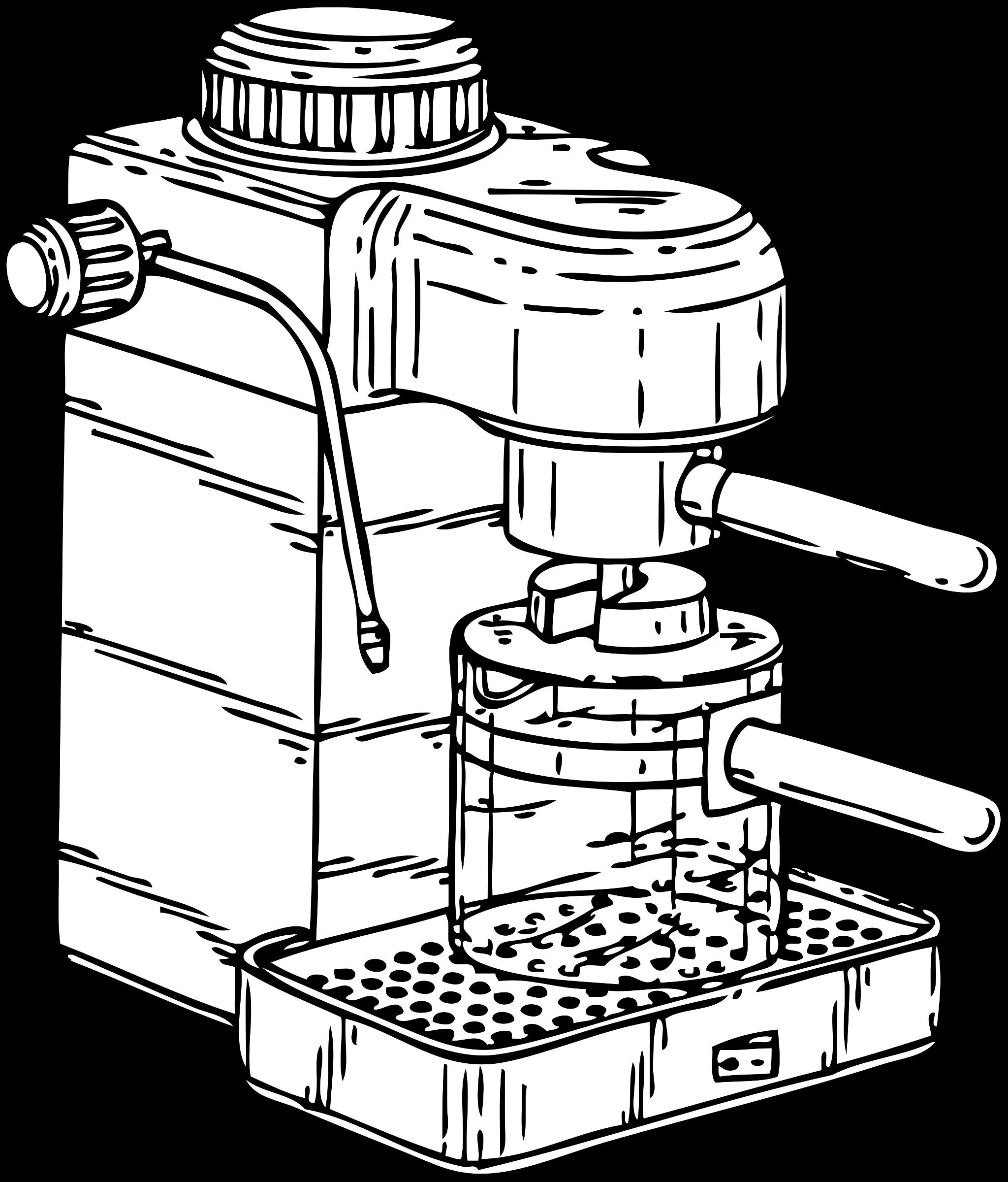 Espresso maker big image. Clipart kitchen drawing