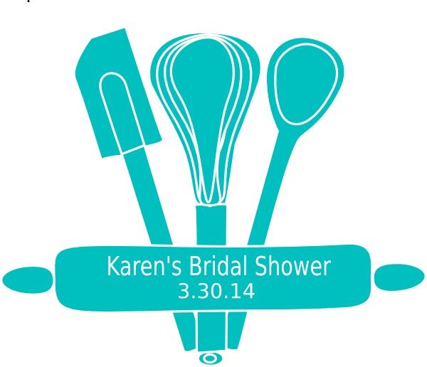 Clipart kitchen family kitchen. Themed bridal shower clip