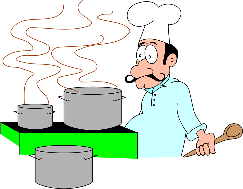 Clipart kitchen food technology. Chef free stock photo
