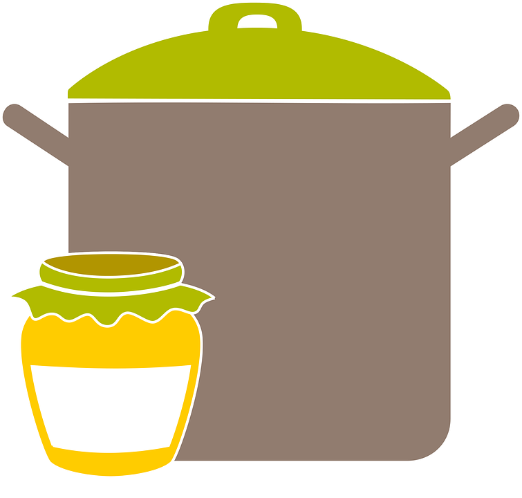 Free photo vintage jam. Clipart kitchen food technology