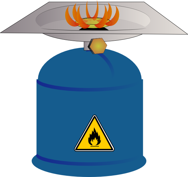 Camping gas burner clip. Cook clipart stove cooking