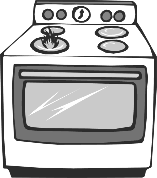 Gas stove free cliparts. Oven clipart appliance