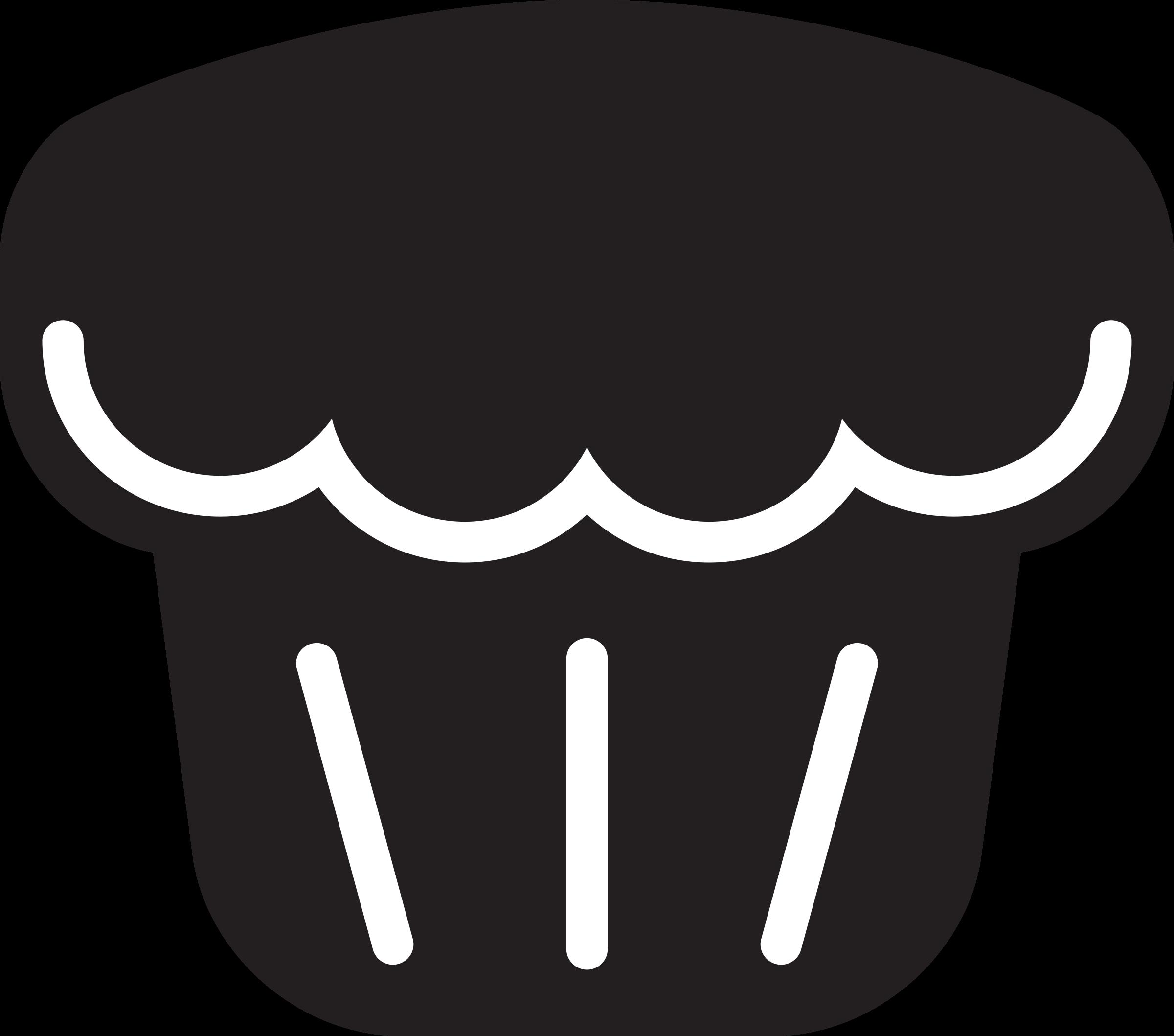 Icon muffin big image. Clipart kitchen illustration