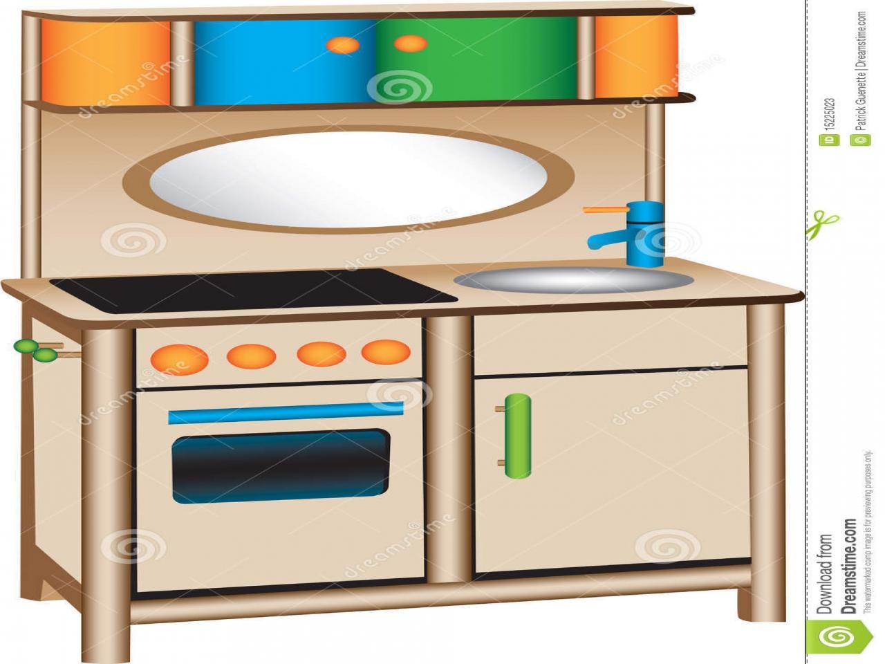 Dramatic play center free. Kitchen clipart preschool