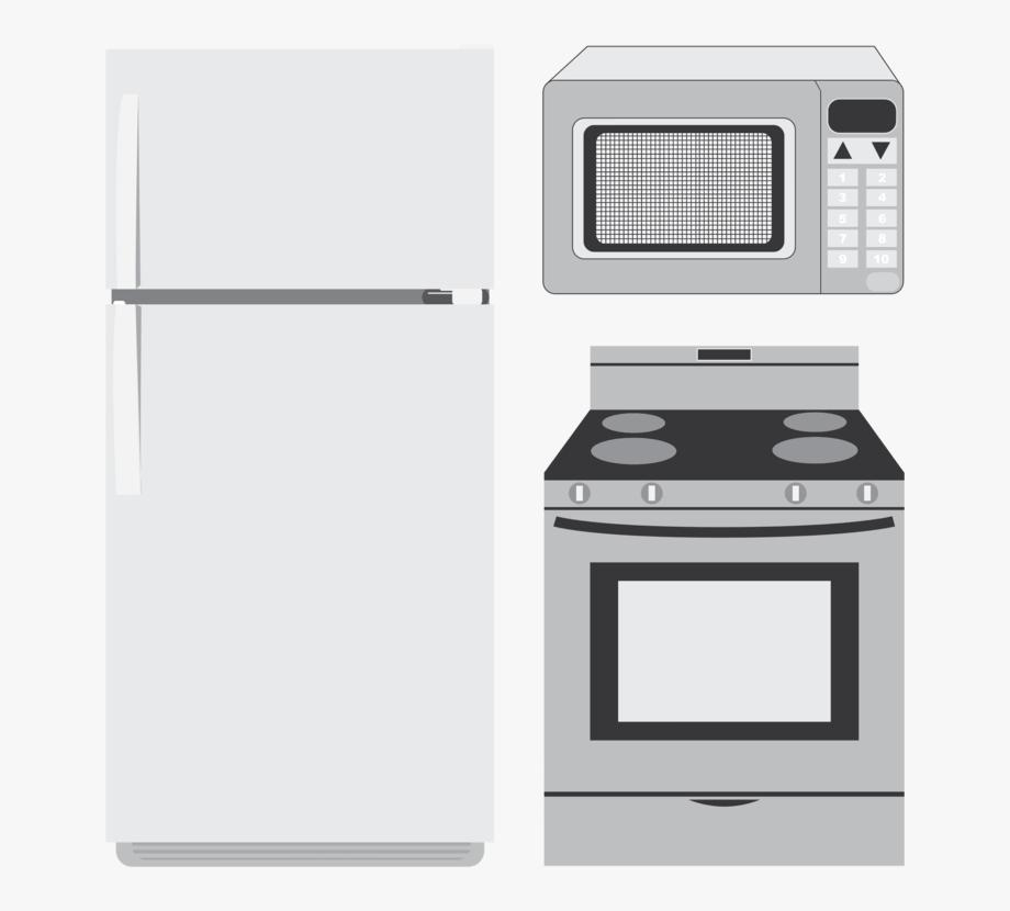 Oven clipart appliance. Kitchen appliances clip art