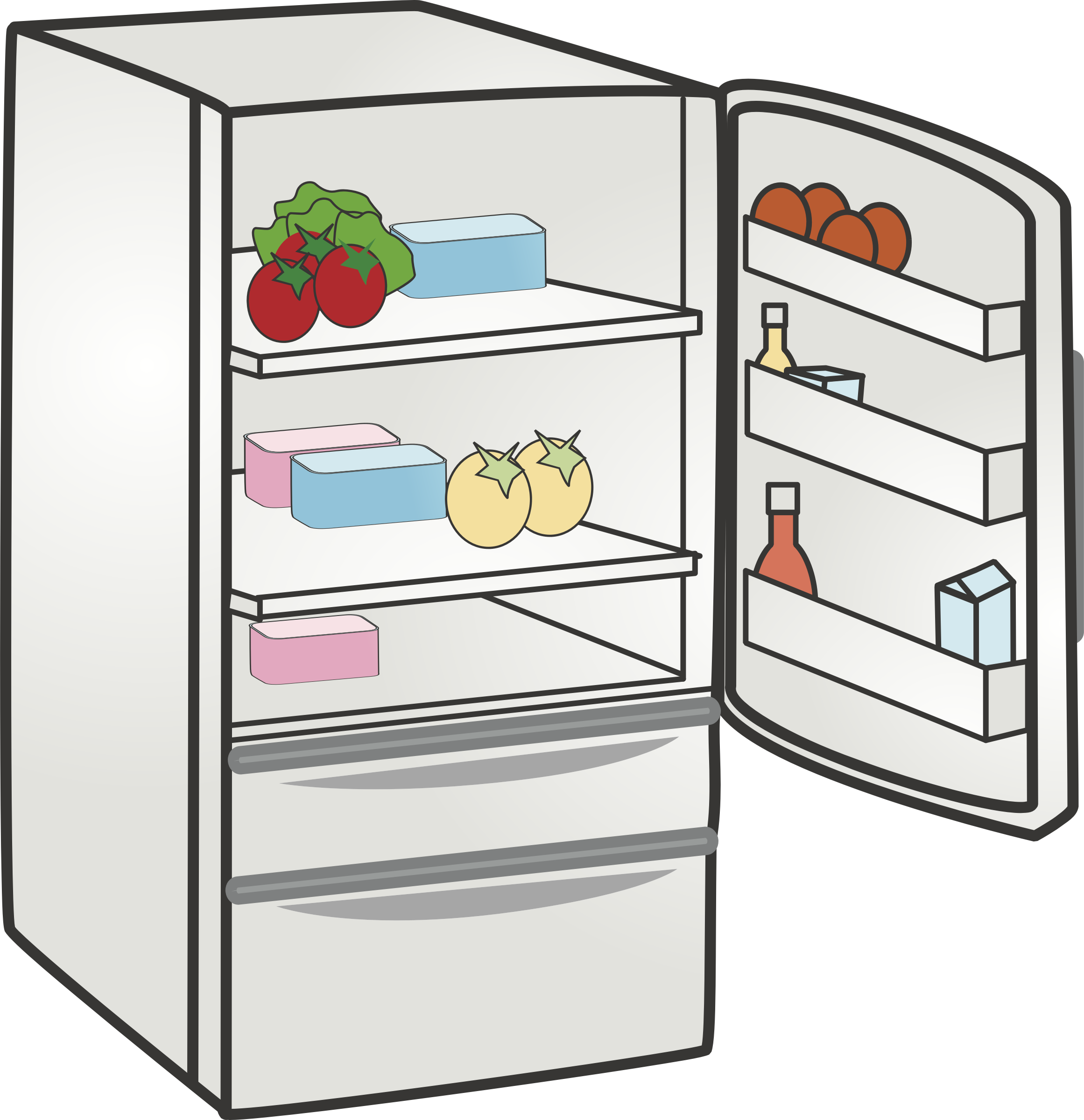 Clipart kitchen kitchen appliance. Refrigerator home clip art