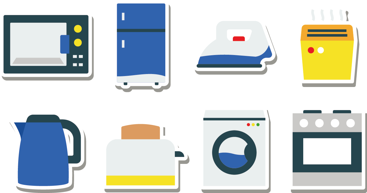 Clipart kitchen kitchen appliance. Home refrigerator icon appliances