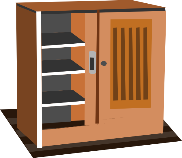 Cabinet clip art at. Furniture clipart cupboard