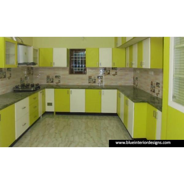 Green white modular installation. Clipart kitchen kitchen counter