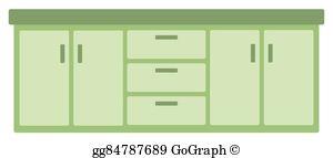 Clipart kitchen kitchen drawer. Cabinet clip art royalty