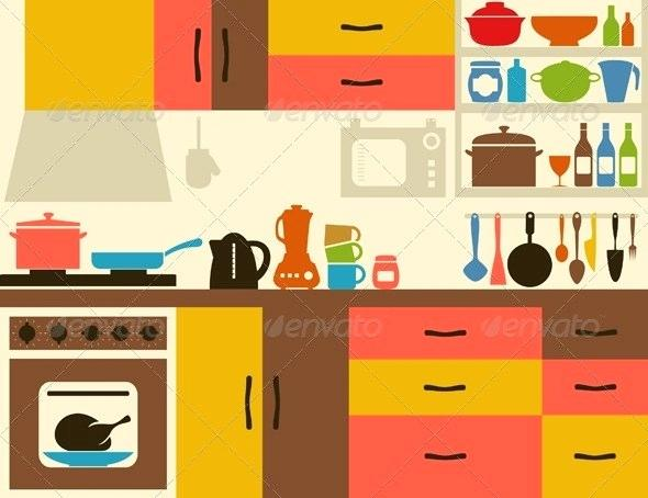 Clipart kitchen kitchen scene. Room performyourbest co